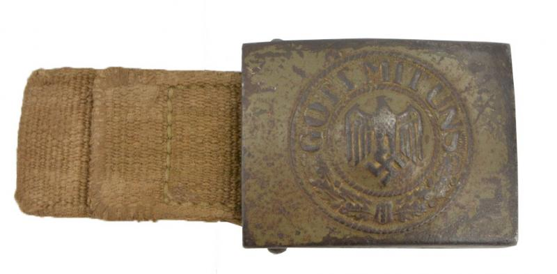 German WH Tropical Beltbuckle with Canvas tab