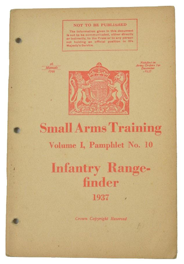 British WW2 Small Arms Training Manual Infantry Rangefinder.
